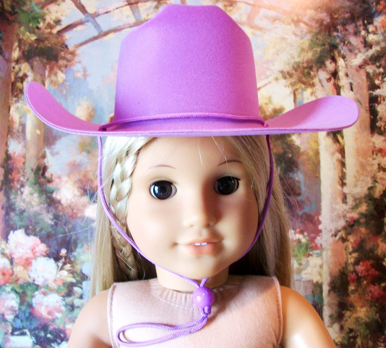 Lavender Cowboy Hat for American Girl 18 inch dolls