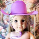 Lavender Cowboy Hat for American Girl 18 inch dolls