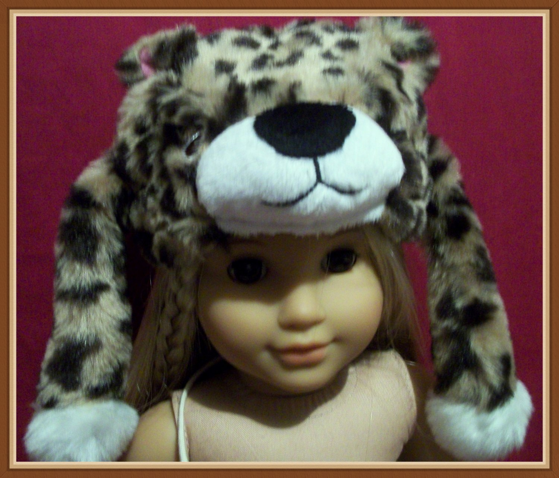 Cheeta Print Animal Fur Hat for American Girl 18 inch Dolls