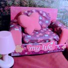 Pink & Lavender Chair/Lounge for American Girl 18 inch Dolls