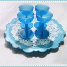 Blue Drinking Goblet set for American Girl 18 inch Dolls
