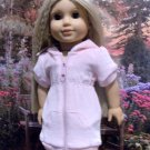 Pink Velour Hooded Dress For American Girl 18 inch dolls