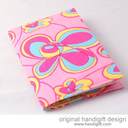 """Pink Swirl"" Passport Cover"
