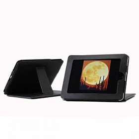 Synthetic PU leather Case for Apple iPad, Kick Stand Included, Features Slotted Surfac