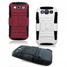 Hybrid 3 in 1 Armor Back Case for Samsung Galaxy S III 3 S3