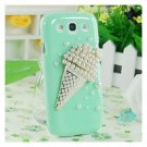 Handmade 3D Ice Cream Pearl Back Case for Samsung Galaxy S3 i9300
