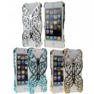 Hollow Pattern Butterfly Electroplating Hard Back Case for iPhone 5