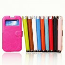 Wallet Style Wax Leather Case Cover for Samsung Galaxy S4 i9500