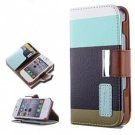 Wallet Style Stand Leather Case Cover with Card Slots for iPhone 4 & 4S