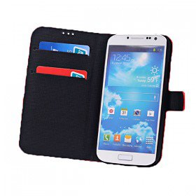 Stripe Pattern Magnetic Flip Leather Case Cover for Samsung Galaxy S4