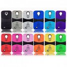 3-Piece Double Layer with Flip-Out Stand Case Cover for Samsung Galaxy S4