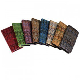 Woven Pattern Wallet Case Cover with Stand / Card Slots for iPhone 5