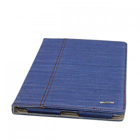 Jean Cloth Style Stand Case Cover for iPad 2 & 3, Black & Blue