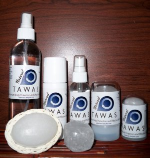 NATURAL TAWAS CRYSTAL DEODORANT, ALL-IN-A-PACK