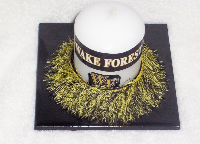 Wake Forest Decorated Candle