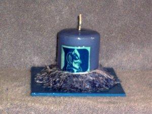 Duke University Hand Decorated Candle