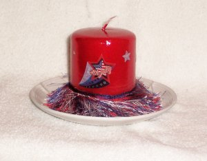 Patriotic 4th of July Candle