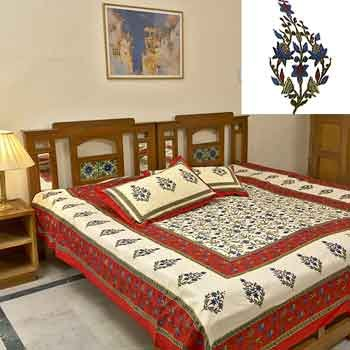 Set of 2 Rajasthani Bedsheets