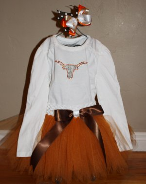 Austin Longhorns Tutu Set