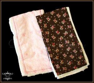 Light Pink Floral & Brown/Pink Flowers  - Burp N' Style