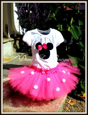 Pink Disney Inspired Minnie Tutu