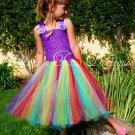 Purple Rainbow Princess Dress