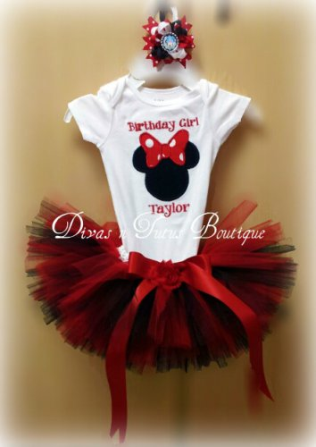 Red & Black Disney Inspired Minnie Tutu Set