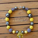 Sunshine Chunky Beaded Necklace Bubble Gum Beads