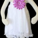 White Pettidress 4-6yrs