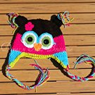 Hoot Owl Hat -Crochet Baby Hat - for Baby or Toddler - Newborn to 1yr