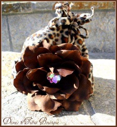 Cheetah Beanies- newborn to 6 months