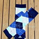Blue Argyle Leg/Arm Warmer