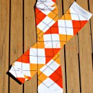 Orange Argyle Leg/Arm Warmer