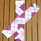 Purple/Pink Argyle Leg/Arm Warmer