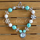 Disney Inspired Frozen Olaf Chunky Beaded Necklace Bubble Gum Beads