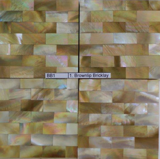 Brown Lip MOP Bricklay Tile