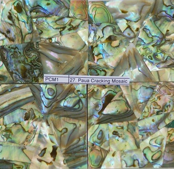 Paua Cracking Mosaic 2 x 2 inches (100 pcs)