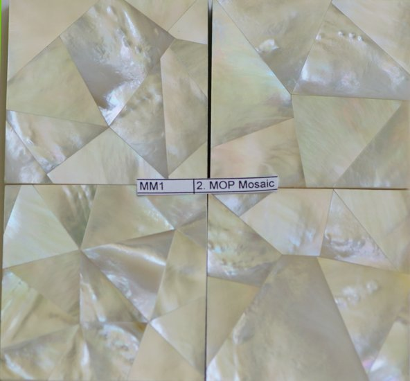 Silver/White Mother of Pear Tiles - Mosaic Design 2 x 2 inches (100 pcs)
