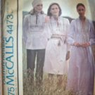 Vintage 1970s McCalls Carefree Top/Dress Pattern 4473 Size 10