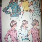 Vintage 1970s 3550 McCalls Pattern, Misses Set of Bouses Plus Size 18 Uncut