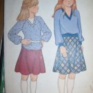 Vintage 1970s 6735 McCalls Pattern, Girls Tops and Skirt Size 7 Uncut