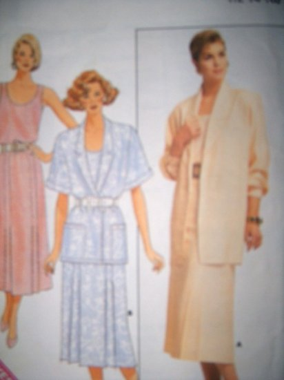 Butterick 1980s 4728 Easy Pattern, Misses Jacket, Top, and Skirt, Size 12, 14, 16, Uncut