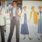 Butterick 4345 Pattern Jacket, Top,Vest, Jumper and Pants Size 12 14 16 Uncut
