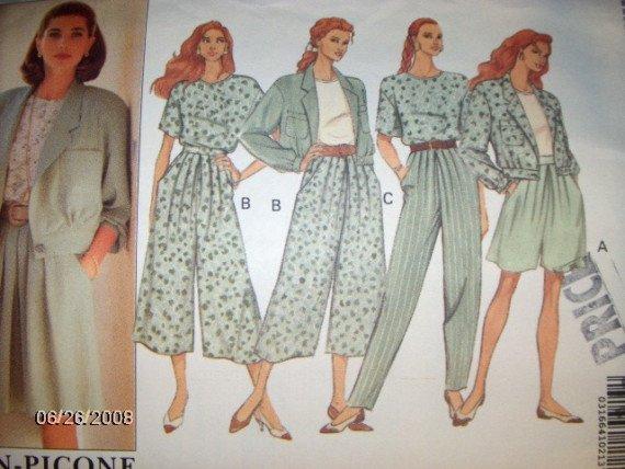 Butterick 5375 Todays Wardrobe Pattern Jacket, Top, Split Skirt and Pants Size 12 14 16 Uncut