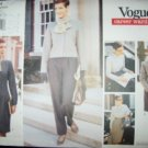 Career Wardrobe Vogue 1644 Pattern Jacket, Dress, Top, Skirt, Pants and Scarf Size 12, 14, 16 Uncut