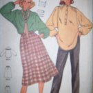 Vintage Quick Butterick 6364 Pattern, Blouse, Skirt and Pants Size 16 Uncut