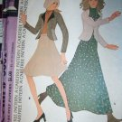 Vintage 1970s Carefree McCalls 3831 Pattern, Misses Jacket and Skirt Size 14, Uncut