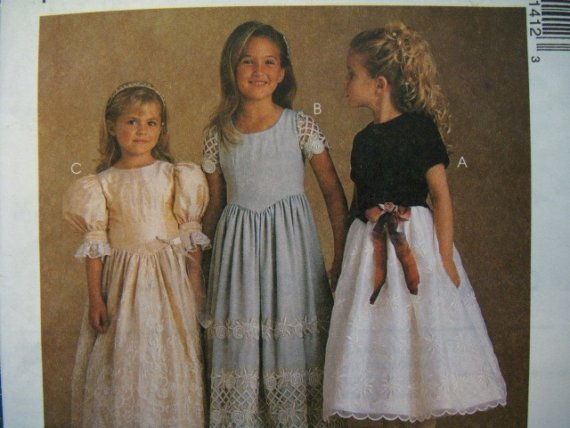 McCalls Alicyn Exclusives 9141 Pattern, Childs Dress in two Lengths, Sizes 4, 5, 6, UNCUT