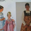 Simplicity 8899 Pattern, Childs and Girls Blouse & Jumper or Overdress, Sizes 6, 7, 8, 10, 12 UNCUT