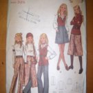 Vintage 1960s 5930 Butterick Pattern Skirt, Top and Pants Size 10 Uncut